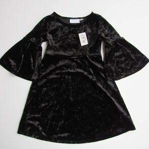 Bell Sleeved Black Dress by Children's Place XS 4